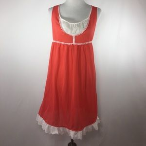 Vintage coral nightgown